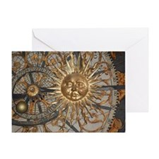 Astrological clockface Greeting Card