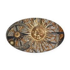 Astrological clockface Oval Car Magnet