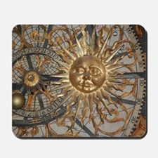 Astrological clockface Mousepad