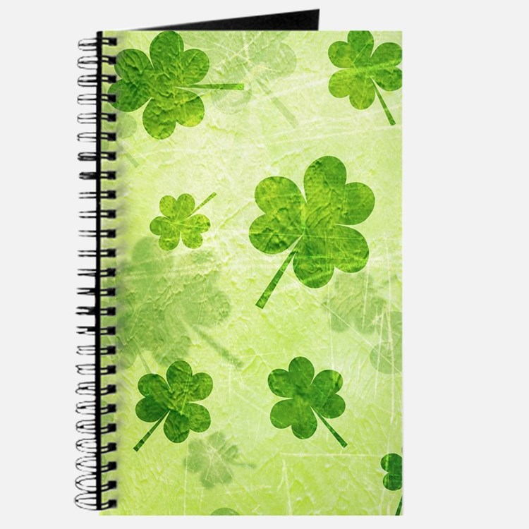 Green Shamrock Pattern Journal