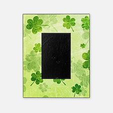 Green Shamrock Pattern Picture Frame