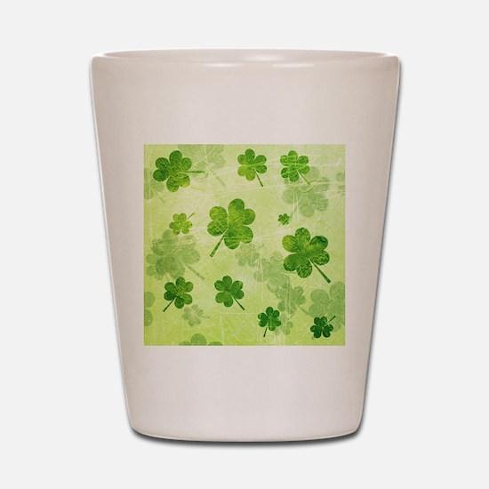 Green Shamrock Pattern Shot Glass