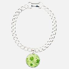 Green Shamrock Pattern Bracelet