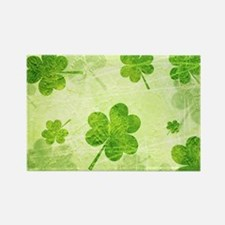 Green Shamrock Pattern Magnets