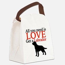 Love Labrador Canvas Lunch Bag