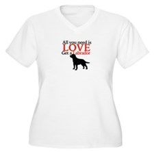 Love Labrador Plus Size T-Shirt