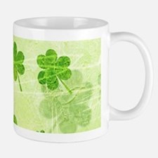 Green Shamrock Pattern Mugs