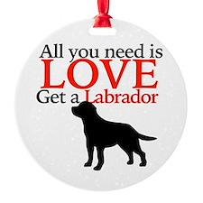Love Labrador Ornament