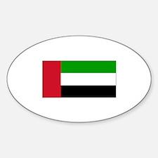 United Arab Emirates Flag Oval Decal