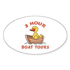 THREE HOUR BOAT TOURS Decal