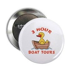 """THREE HOUR BOAT TOURS 2.25"""" Button (100 pack)"""