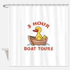 THREE HOUR BOAT TOURS Shower Curtain