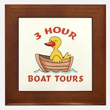THREE HOUR BOAT TOURS Framed Tile