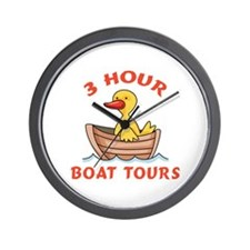 THREE HOUR BOAT TOURS Wall Clock