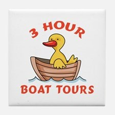 THREE HOUR BOAT TOURS Tile Coaster