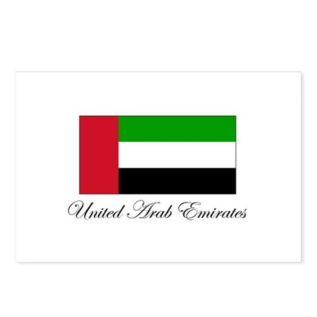 United Arab Emirates - Flag Postcards (Package of