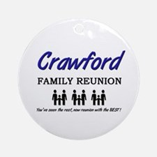 Crawford Family Reunion Ornament (Round)