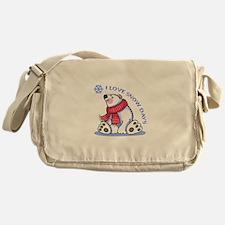 I LOVE SNOW DAYS Messenger Bag