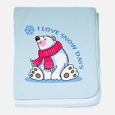 I LOVE SNOW DAYS baby blanket