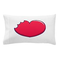 Valentine heart bite Pillow Case
