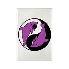 Yin Yang Dolphins 6 Rectangle Magnet