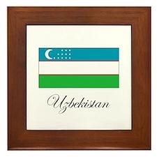 Uzbekistan - Flag Framed Tile