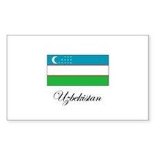 Uzbekistan - Flag Rectangle Decal