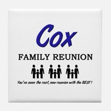 Cox Family Reunion Tile Coaster