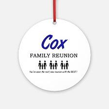 Cox Family Reunion Ornament (Round)