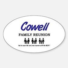 Cowell Family Reunion Oval Decal