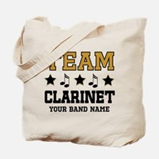 Team Clarinet Personalized Music Tote Bag