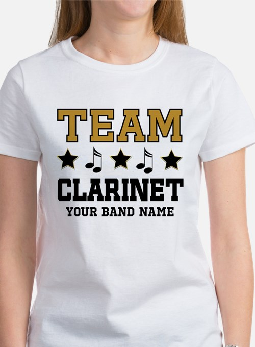 Team Clarinet Personalized Music T-Shirt