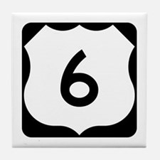 US Route 6 Tile Coaster