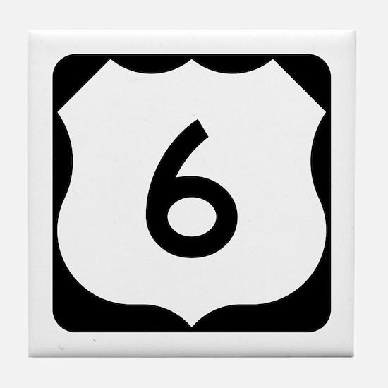 US Route 6 Tile Coaster