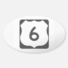 US Route 6 Sticker (Oval)