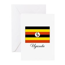 Uganda - Flag Greeting Cards (Pk of 10)