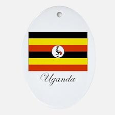 Uganda - Flag Oval Ornament