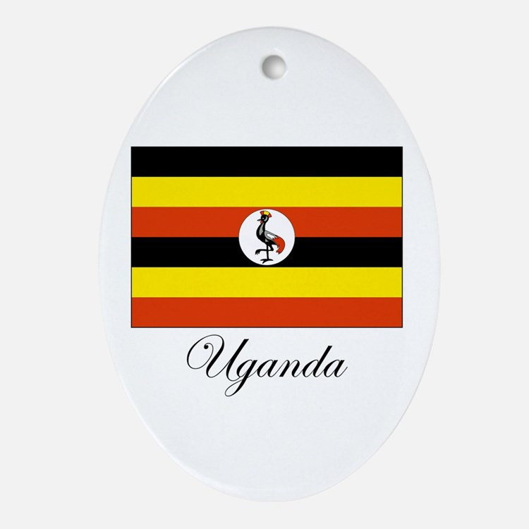 Uganda - Flag Oval Ornament