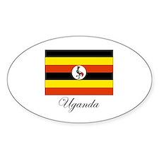 Uganda - Flag Oval Decal