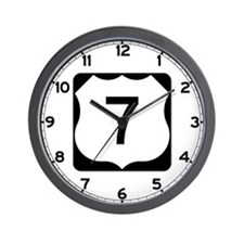 US Route 7 Wall Clock