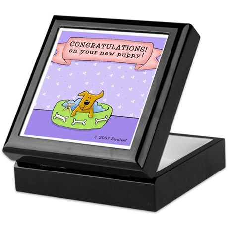 Congratulations, New Puppy Keepsake Box