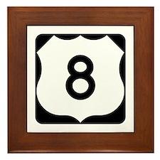US Route 8 Framed Tile