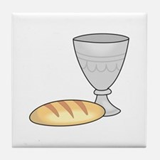 WINE AND BREAD Tile Coaster