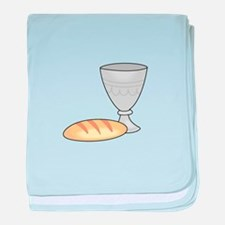 WINE AND BREAD baby blanket