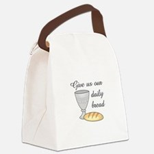 WINE DAILY BREAD Canvas Lunch Bag