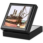 Old Riverboat Art Keepsake Box