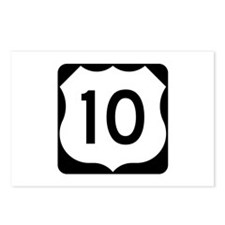 US Route 10 Postcards (Package of 8)