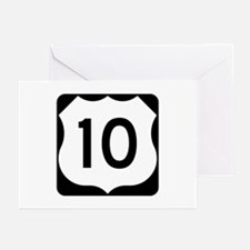 US Route 10 Greeting Cards (Pk of 10)