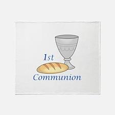 FIRST COMMUNION Throw Blanket