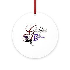 Goddess of Bratism Ornament (Round)Purple rose